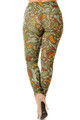 Brushed Holiday Olive Garden Plus Size Leggings