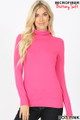 Brushed Microfiber Mock Neck Top