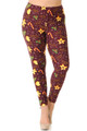 Brushed Merry Christmas Treats and Cookies Extra Plus Size Leggings - 3X-5X