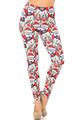 Creamy Soft Frosty Santa Rudolph Plus Size Leggings