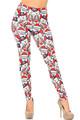 Creamy Soft Frosty Santa Rudolph Extra Plus Size Leggings - 3X-5X - USA Fashion™