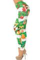 Holiday Green Christmas Garland Wrap Leggings