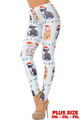 Kitty Cats in Hats Christmas Leggings - Plus Size