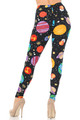 Brushed Planets in Space Plus Size Leggings