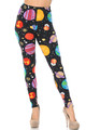 Brushed Planets in Space Extra Plus Size Leggings - 3X-5X