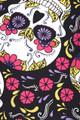 Brushed  Floral Petal Sugar Skull Plus Size Leggings