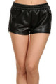 Zipped Side Faux Leather Shorts