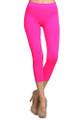 Capri Length Neon Nylon Spandex Leggings