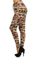 Colorful Embrace Tribal Harem Leggings