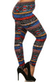 Batik Tribal Plus Size Leggings
