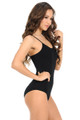 Spaghetti Strap Basic Cotton Bodysuit