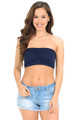 Ruched Bandeau Spandex Top