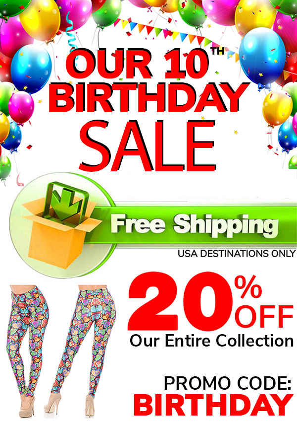 Our 10th Birthday Leggings Sale