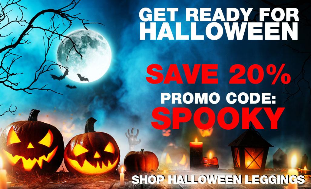 Shop Halloween Leggings and Face Masks