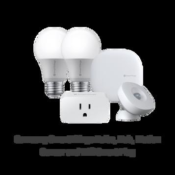 Samsung SmartThings Bulbs, Hub, Motion Sensor and Wifi Smart Plug