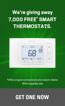 we're giving away 7,000 Free smart thermostats. Get one now