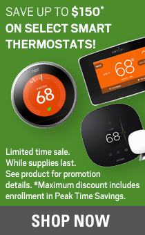 save up to 150 on smart thermostats. shop now