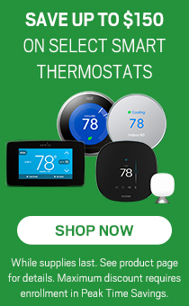 Up to $150 off thermostats.