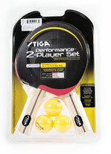 STIGA Performance Two Player Racket Set Ping Pong Depot Table Tennis Equipment
