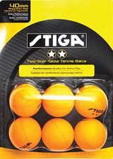 STIGA 2* Balls pack of 6 Ping Pong Depot Table Tennis Equipment