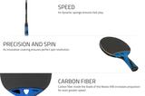 Cornilleau NEXEO X90 Carbon Fiber Racket Ping Pong Depot Table Tennis Equipment