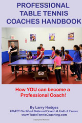 Professional Table Tennis Coaches Handbook Book Ping Pong Depot Table Tennis Equipment