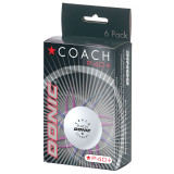 Donic P40+ Coach 1* White (6) ABS balls Ping Pong Depot Table Tennis Equipment