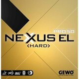 GEWO Nexxus EL Pro 50 Hard Rubber  Ping Pong Depot Table Tennis Equipment