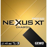 GEWO Nexxus XT Pro 50 Hard Rubber  Ping Pong Depot Table Tennis Equipment