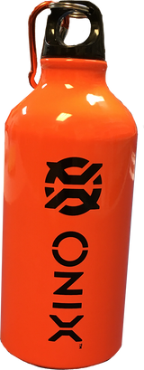 Onix Aluminum Water Bottle 16 oz. Orange-White