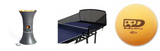 JOOLA iPONG Trainer Motion + Compact Carbon Fiber Practice Net Ping Pong Depot Table Tennis Equipment