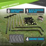 Sport Squad 6' x 4' Steel Soccer Goal Ping Pong Depot Table Tennis Equipment 2
