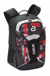 Andro Fraser Red/Black Backpack Bag