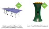 Combo Table / Robot Leisure Better / Double Queen Grand Choice 2 Table (18mm), FREE Ship & Net (Canada only) + Joola iPong V200 Robot (Canada only) 1