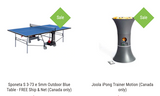 Combo Table / Robot Indoor/Outdoor Better: Sponeta S 3-73 e 5mm Outdoor Blue Table - FREE Ship & Net (Canada only) + Joola Ipong Trainer Motion Robot (only in Canada) 1