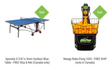 Combo Table / Robot Indoor/Outdoor Best: Sponeta S 3-87 e 5mm Outdoor Blue Table - FREE Ship & Net (Canada only) + Newgy Robo-Pong 1055+ FREE SHIP (only in Canada) 1