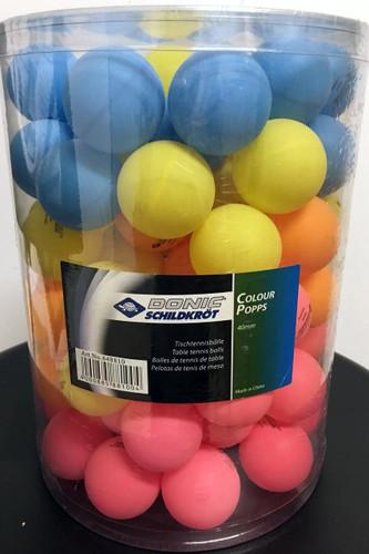 DONIC Schildkröt Multicolor Popps Balls 90 Ping Pong Depot Table Tennis Equipment