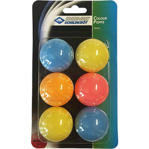 DONIC Schildkröt Color Popps Balls pack of 6 Ping Pong Depot Table Tennis Equipment