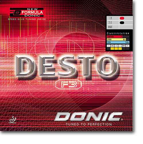 DONIC Desto F3 Rubber Ping Pong Depot Table Tennis Equipment