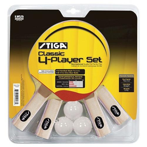 STIGA Classic Four Player Racket Set Ping Pong Depot Table Tennis Equipment