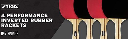 STIGA Performance Four Player Racket Set Ping Pong Depot Table Tennis Equipment 3