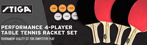 STIGA Performance Four Player Racket Set Ping Pong Depot Table Tennis Equipment 4
