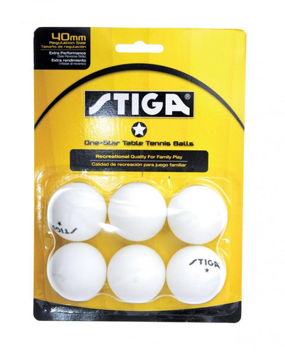 STIGA 1* Balls pack of 6 Ping Pong Depot Table Tennis Equipment