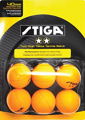 STIGA 2* Balls pack of 6 Ping Pong Depot Table Tennis Equipment