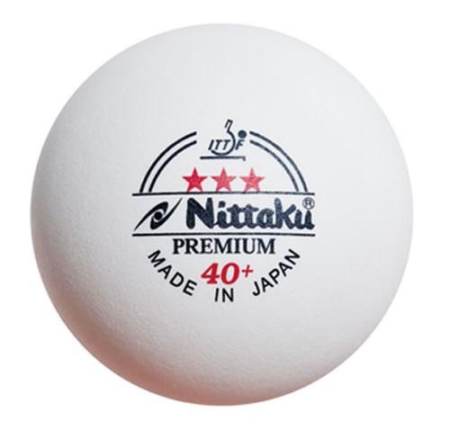 Nittaku 40+ Premium 3* 3 Balls Ping Pong Depot Table Tennis Equipment