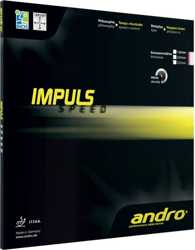 andro Impuls Speed Rubber Ping Pong Depot Table Tennis Equipment