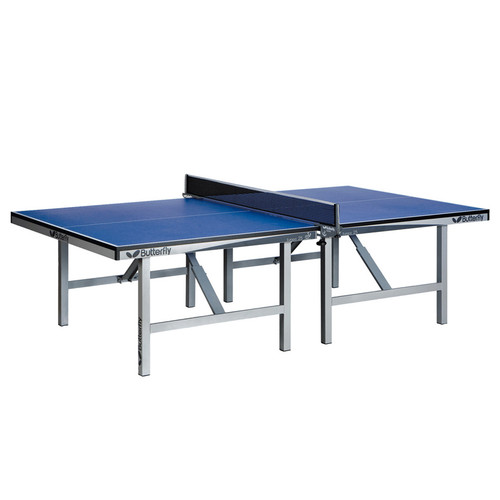 Butterfly Europa 25 Stationary Blue Grey, USED, includes shipping and Net Ping Pong Depot Table Tennis Equipment