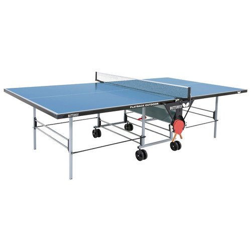Butterfly Playback Rollaway Table Blue USA only, includes shipping and Net Ping Pong Depot Table Tennis Equipment