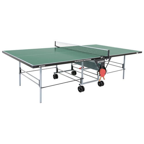 Butterfly Playback Rollaway Table Green USA only, includes shipping and Net Ping Pong Depot Table Tennis Equipment