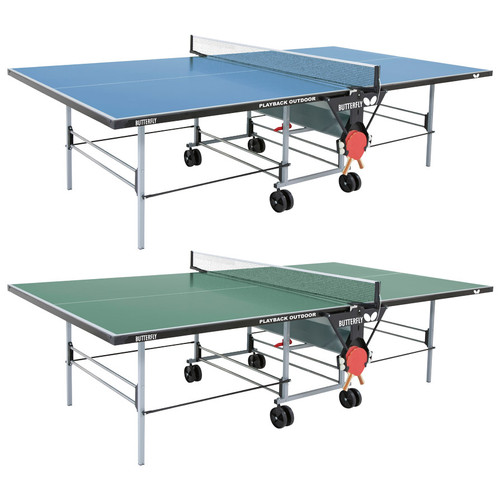Butterfly Outdoor Playback Rollaway Table Green USA only, includes shipping and Net Ping Pong Depot Table Tennis Equipment